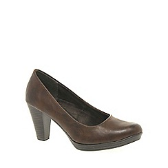Marco Tozzi - Brown 'Claudia' womens court shoes
