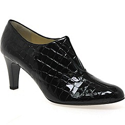 Peter Kaiser - Black patent 'hawa' womens high cut court shoes