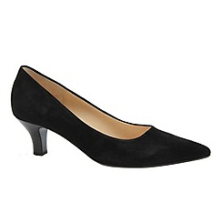 Gabor - Black 'Arnica' black suede court shoes