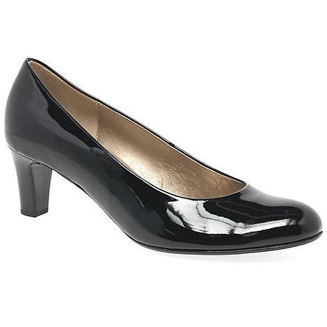 Gabor - Black patent +Vesta 2+ womens court shoes