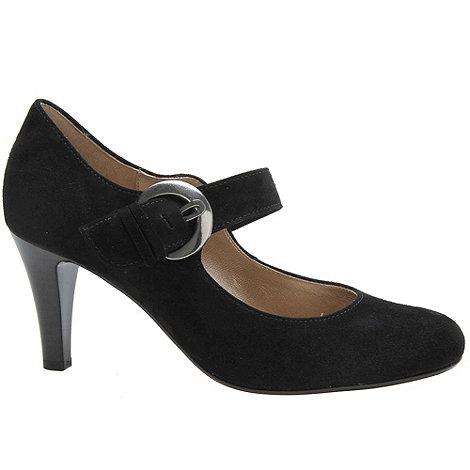 Gabor - Black +Glimpse+ womens court shoes