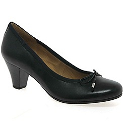 Gabor - Black 'Melton' court shoes