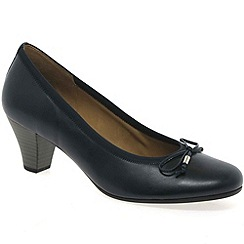 Gabor - Navy 'Melton' court shoes