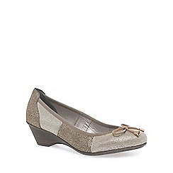 Rieker - Metallic 'Pearl' womens court shoes