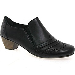Rieker - Black 'Scoop' Womens High Cut Court Shoes