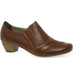 Rieker - Tan 'Scoop' Womens High Cut Court Shoes