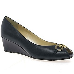 Van Dal - Navy 'Carmel' womens wedge heeled shoes