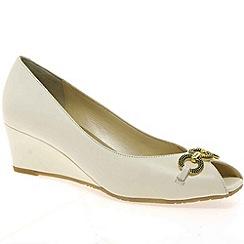 Van Dal - Ivory 'Carmel' womens wedge heeled shoes