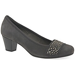 Gabor - Grey suede 'Wallace' mid heel court shoes