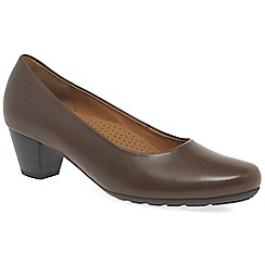 Gabor - Brown 'Brambling' Womens Court Shoes