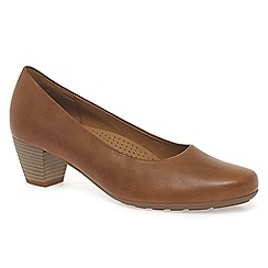 Gabor - Light brown 'Brambling' womens court shoes