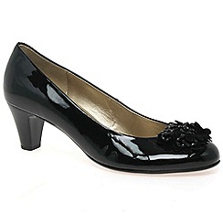 Gabor - Black patent 'Alentjo' womens court shoes