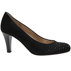 Gabor - Black 'Roxburgh' womens court shoes