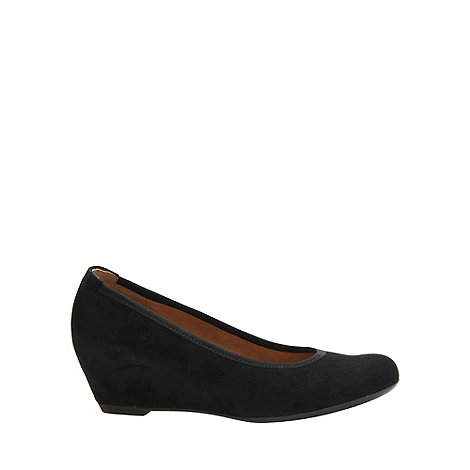 Gabor - Black +Fantasy+ Womens Wedge Heel Court Shoes