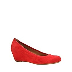Gabor - Red 'Fantasy' Womens Wedge Heel Court Shoes