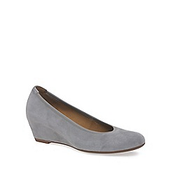 Gabor - Light grey 'Fantasy' Womens Wedge Heel Court Shoes