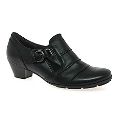 Gabor - Black 'Bassey' womens high cut court shoes
