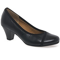 Gabor - Near black 'Freda' womens court shoes