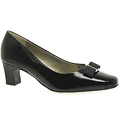 Van Dal - Black patent 'Helensville' Ladies Court Shoe