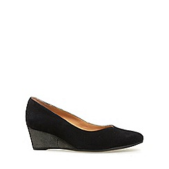 Van Dal - Black 'Hanover' wide fitting ladies wedge heeled shoes