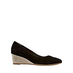 Van Dal - Near black 'Hanover' Wide Fitting Ladies Wedge Heeled Shoes