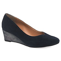 Van Dal - Navy 'hanover' wide fitting ladies wedge heeled shoes