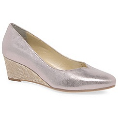 Van Dal - Metallic leather 'Hanover' wide fitting wedges