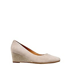 Van Dal - Beige 'Hanover' Wide Fitting Ladies Wedge Heeled Shoes