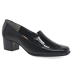 Van Dal - Black 'Weston' ladies high cut court shoes