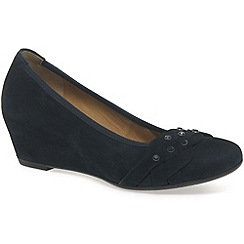 Gabor - Navy 'riona' womens wedge court shoes