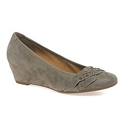 Gabor - Beige 'riona' women's wedge court shoes