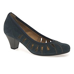 Gabor - Navy 'Roxette' modern court shoes