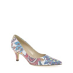 Peter Kaiser - Multi coloured 'soffi' womens mosaic floral court shoes
