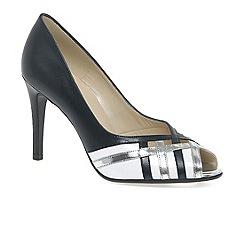 Peter Kaiser - Navy 'Alrauna' womens peep toe heels