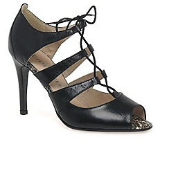 Peter Kaiser - Black 'Alexia' womens open court shoes