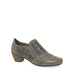 Rieker - Beige 'Lazer' women's high cut court shoes