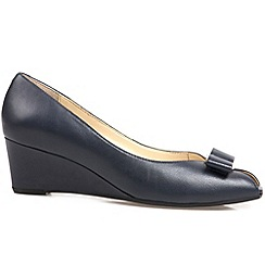 Van Dal - Navy 'Bay' womens wedge heel court shoes