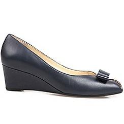 Van Dal - Navy 'Bay' womens wedge heel court shoes