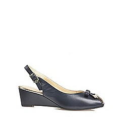 Van Dal - Navy 'Meade' womens peep toe slingback shoes