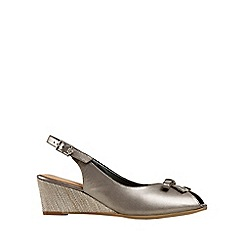 Van Dal - Metallic 'Meade' Womens Peep Toe Slingback Shoes
