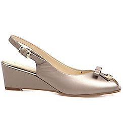 Van Dal - Beige 'Meade' womens peep toe slingback shoes