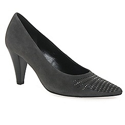 Gabor - Grey 'Dalcross' womens court shoes
