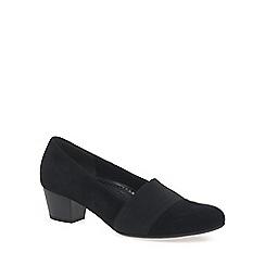 Gabor - Near black 'Sovereign' womens court shoes
