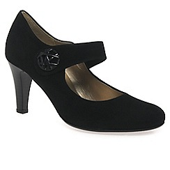Gabor - Black 'Approach' womens court shoes
