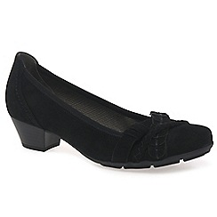 Gabor - Black 'Tyne' womens court shoes