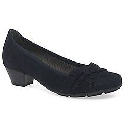 Gabor - Navy 'Tyne' womens court shoes