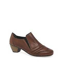 Rieker - Brown 'Odyssey' womens high cut court shoes