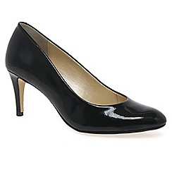 Van Dal - Black patent 'Trinity' womens black patent court shoes