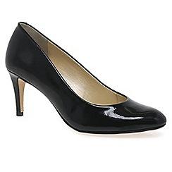 Van Dal - Black patent 'Trinity' womens black patent court shoes
