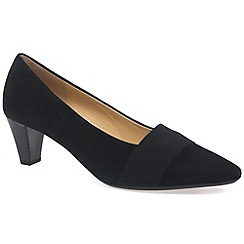 Gabor - Near black 'Folky' Womens Court Shoes